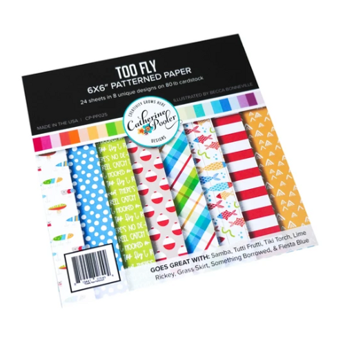 Catherine Pooler Designs 6x6 Paper Pad: Too Fly