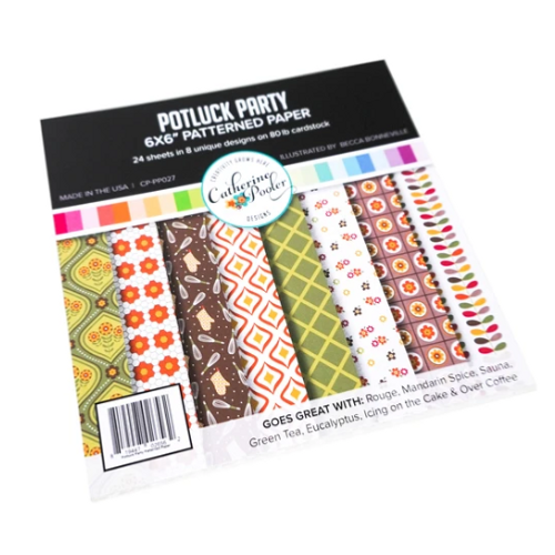 Catherine Pooler Designs 6x6 Paper Pad: Potluck Party