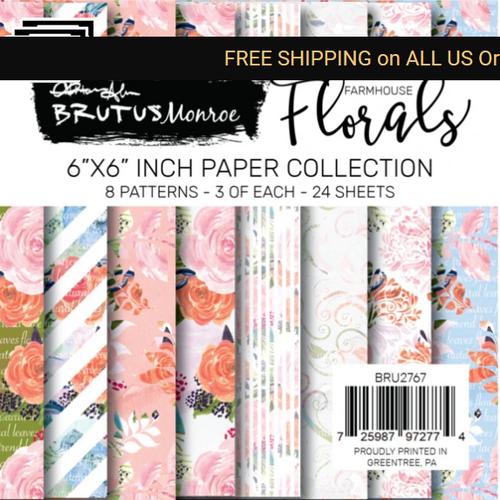 Brutus Monroe 6x6 Paper Pad: Farmhouse Floral