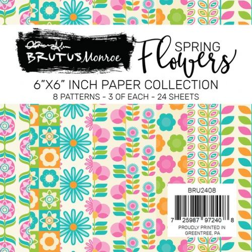 Brutus Monroe 6x6 Paper Pad: Spring Flowers