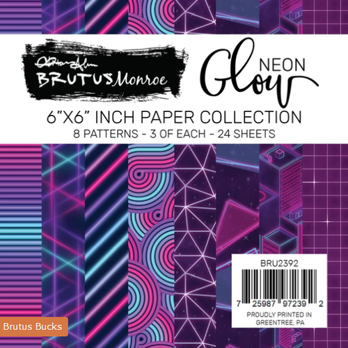 Brutus Monroe 6x6 Paper Pad: Neon Glow