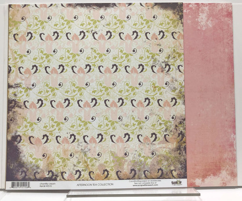 Scrap Within Reach Afternoon Tea 12x12 Patterned Paper: Chantilly Cream