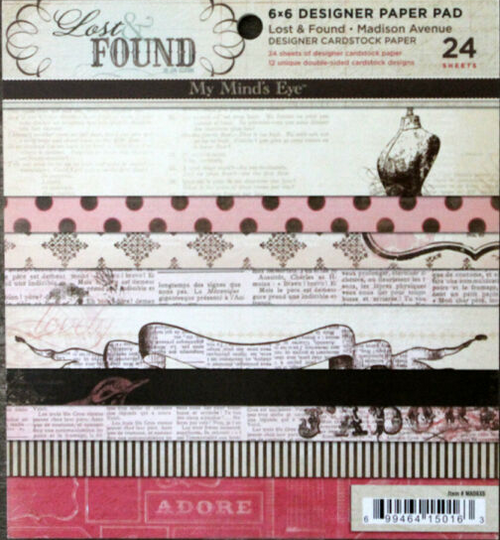 My Mind's Eye 6x6 Paper Pad: Lost & Found | Madison Avenue