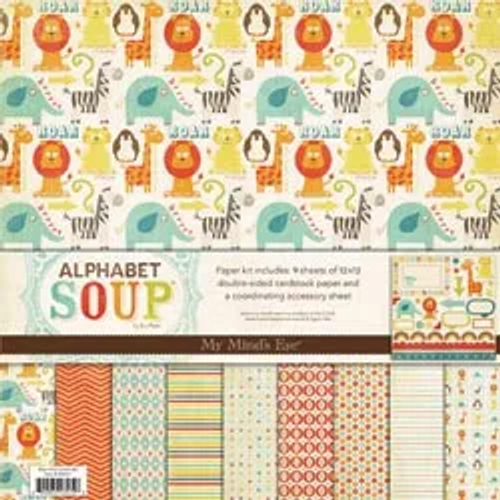 My Mind's Eye 12x12 Paper & Accessories Kit: Alphabet Soup Boy
