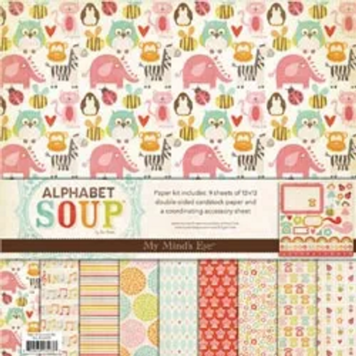My Mind's Eye 12x12 Paper & Accessories Kit: Alphabet Soup Girl