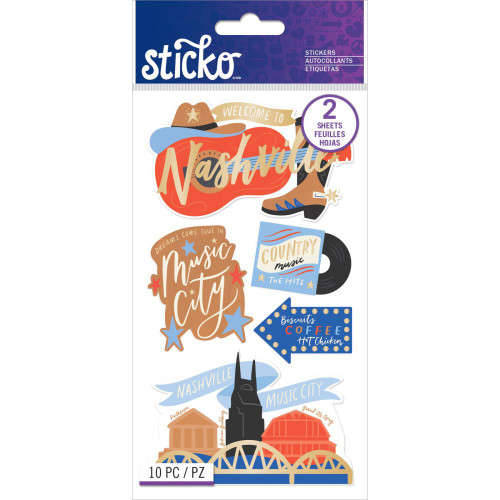 Sticko Flat Stickers: Nashville