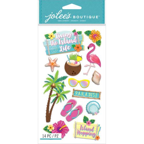 Jolee's Boutique Le Grande Dimensional Stickers: Island Life