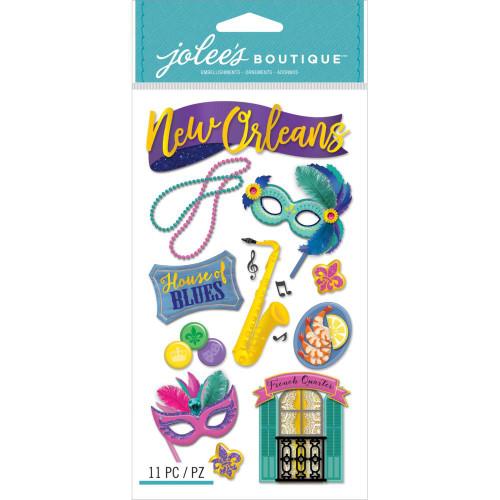 Jolee's Boutique Le Grande Dimensional Stickers: New Orleans