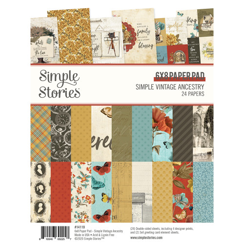 *SG SUPER BUY* Simple Vintage Ancestry 6x8 Pad