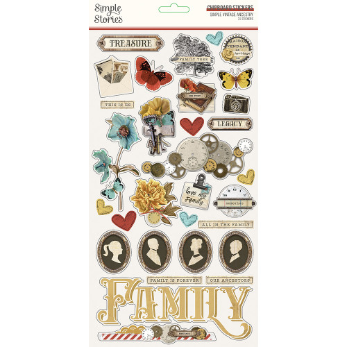 Simple Vintage Ancestry 6x12 Chipboard
