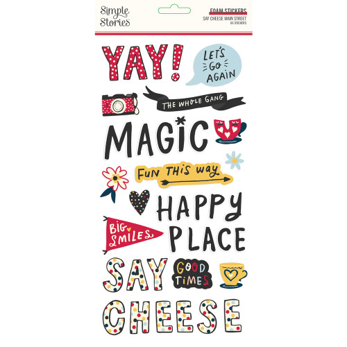 Say Cheese Main Street Foam Stickers