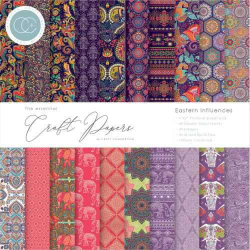 Craft Consortium 6x6 Paper Pad: Eastern Influences
