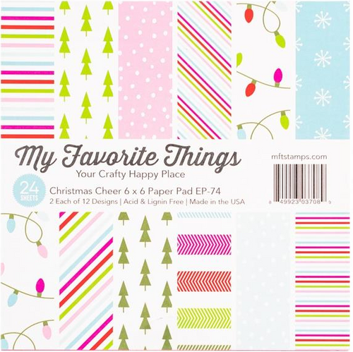 My Favorite Things 6x6 Paper Pad: Christmas Cheer
