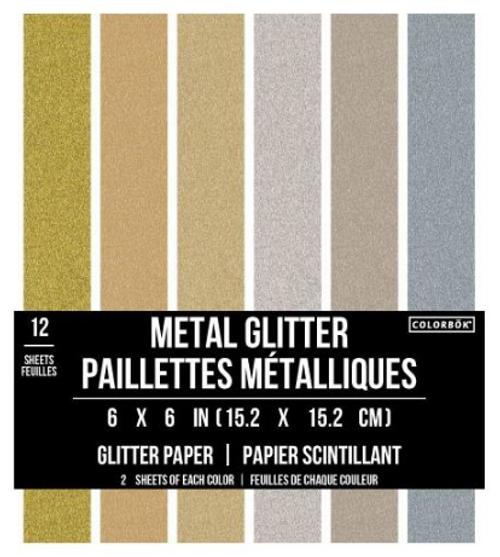 AC Colorbok Precious Metal Glitter 6x6 Paper Pad