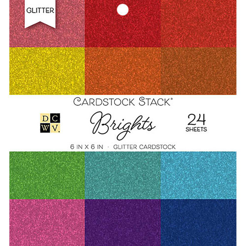 Die Cuts With A View 6x6 Specialty Paper Pad: Glitter Brights
