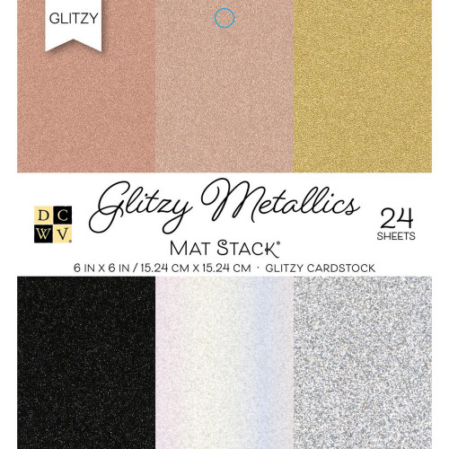 Die Cuts With A View 6x6 Specialty Paper Pad: Glitzy Metallics