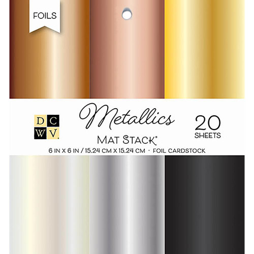 Die Cuts With A View 6x6 Specialty Paper Pad: Metallic Mat Stack
