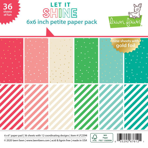 Lawn Fawn 6x6 Paper Pad: Let it Shine
