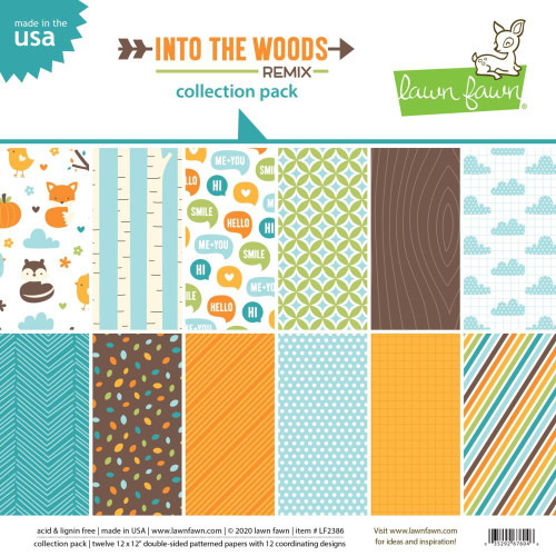 Lawn Fawn 12x12 Collection Pack: Into the Woods Remix