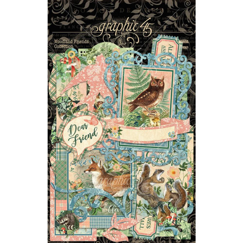 Graphic 45 Woodland Friends Diecut Assortment