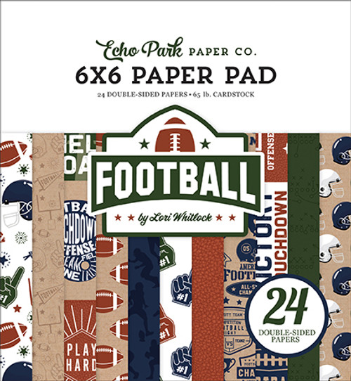 Echo Park Football 6x6 Paper Pad