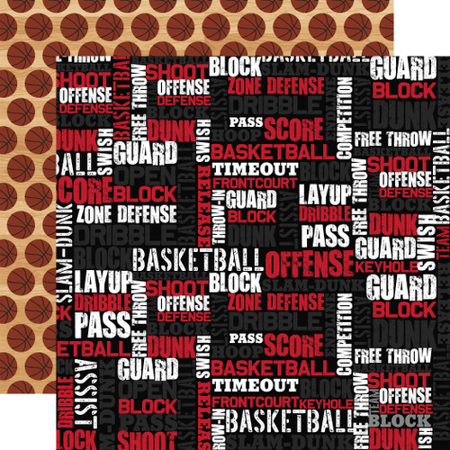 Echo Park Basketball 12x12 Paper: Basketball Words