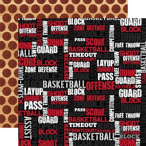 Echo Park Basketball 12x12 Paper: Basketball Words