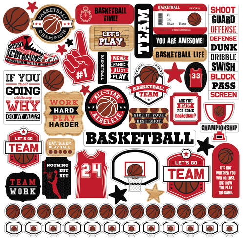 Echo Park Basketball Element Sticker