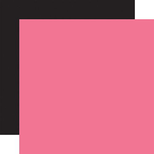 Echo Park Cupid & Co. 12x12 Paper: Dk. Pink / Black