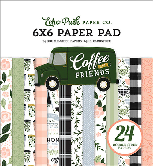 Echo Park Coffee & Friends 6x6 Paper Pad