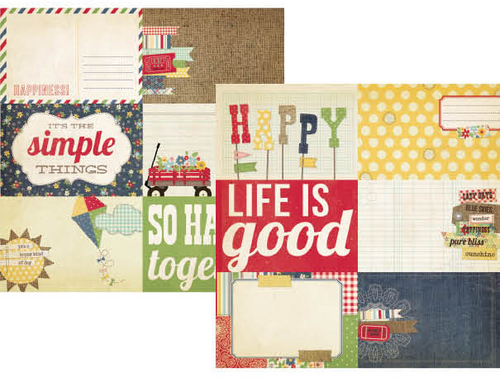 Simple Stories Summer Fresh 12x12 Paper: 4x6 Journaling Card Elements #2 (25 pack)