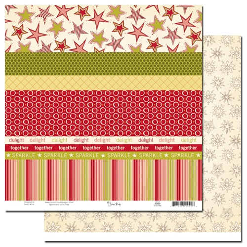 Scenic Route Garland 12x12 Paper: Scrap Strip