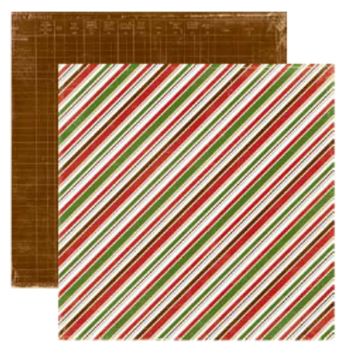 Echo Park Very Merry Christmas 12x12 Paper: Diagonal Stripe
