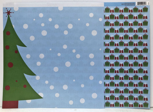 Reminisce Santa's Workshop 12x12 Shimmer Paper: Gift Wrapped