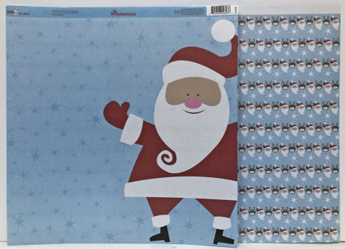 Reminisce Santa's Workshop 12x12 Shimmer Paper: St. Nick