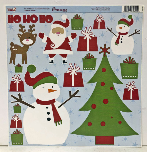 Reminisce Santa's Workshop 12x12 Sticker Sheet