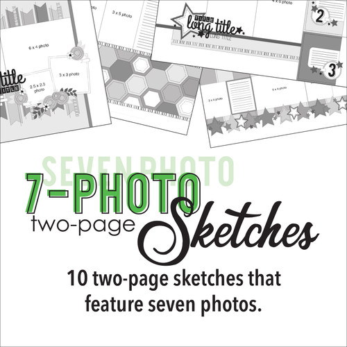 * DIGITAL DOWNLOAD * TEN SKETCHES - Seven Photos | Two Page Layouts