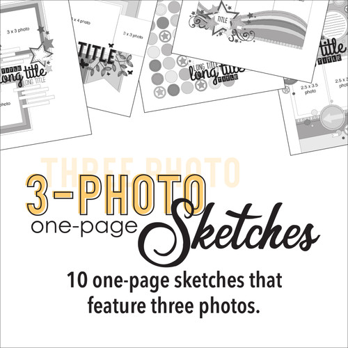 * DIGITAL DOWNLOAD * TEN SKETCHES - Three Photos | One  Page Layouts