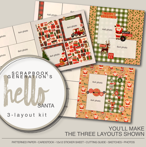 SG: Hello Santa - 3 Layout Kit
