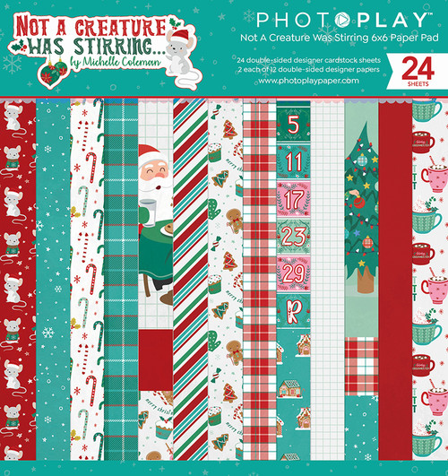 PhotoPlay 6x6 Paper Pad: Not A Creature Was Stirring
