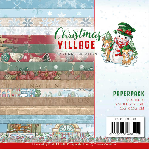 Find-It Media 6x6 Paper Pad: Christmas Village