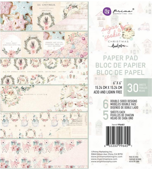 Prima Marketing 6x6 Paper Pad: Sugar Cookie Christmas