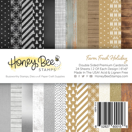 Honey Bee Stamps 6x6 Paper Pad: Farm Fresh Holiday