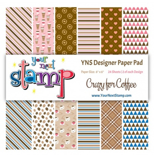 YNS Designer 6x6 Paper Pad: Crazy for Coffee