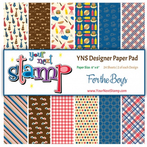 YNS Designer 6x6 Paper Pad: For the Boys