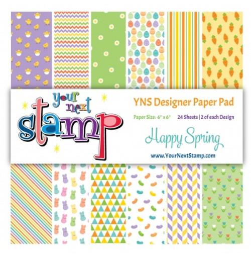 YNS Designer 6x6 Paper Pad: Happy Spring