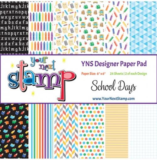 YNS Designer 6x6 Paper Pad: School Days