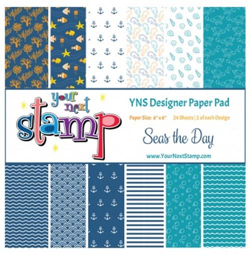 YNS Designer 6x6 Paper Pad: Seas the Day
