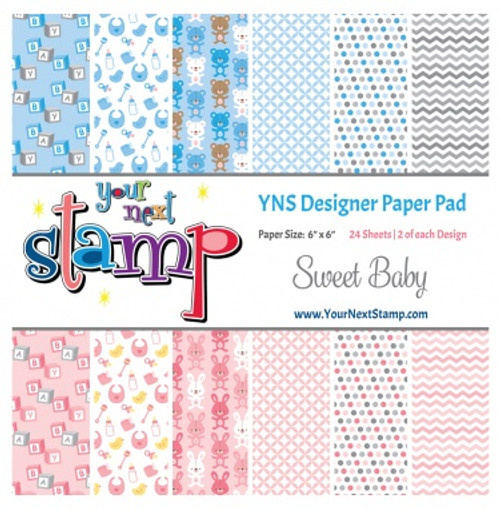 YNS Designer 6x6 Paper Pad: Sweet Baby