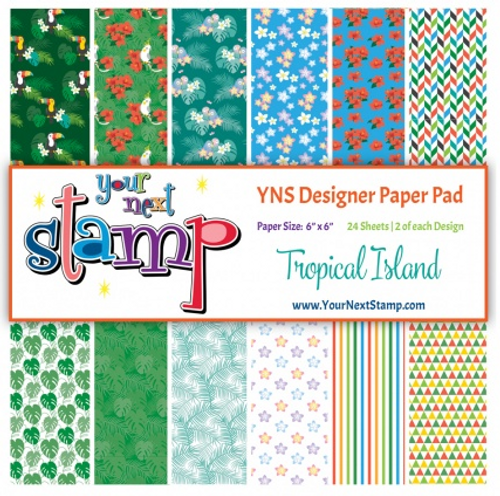 YNS Designer 6x6 Paper Pad: Tropical Island